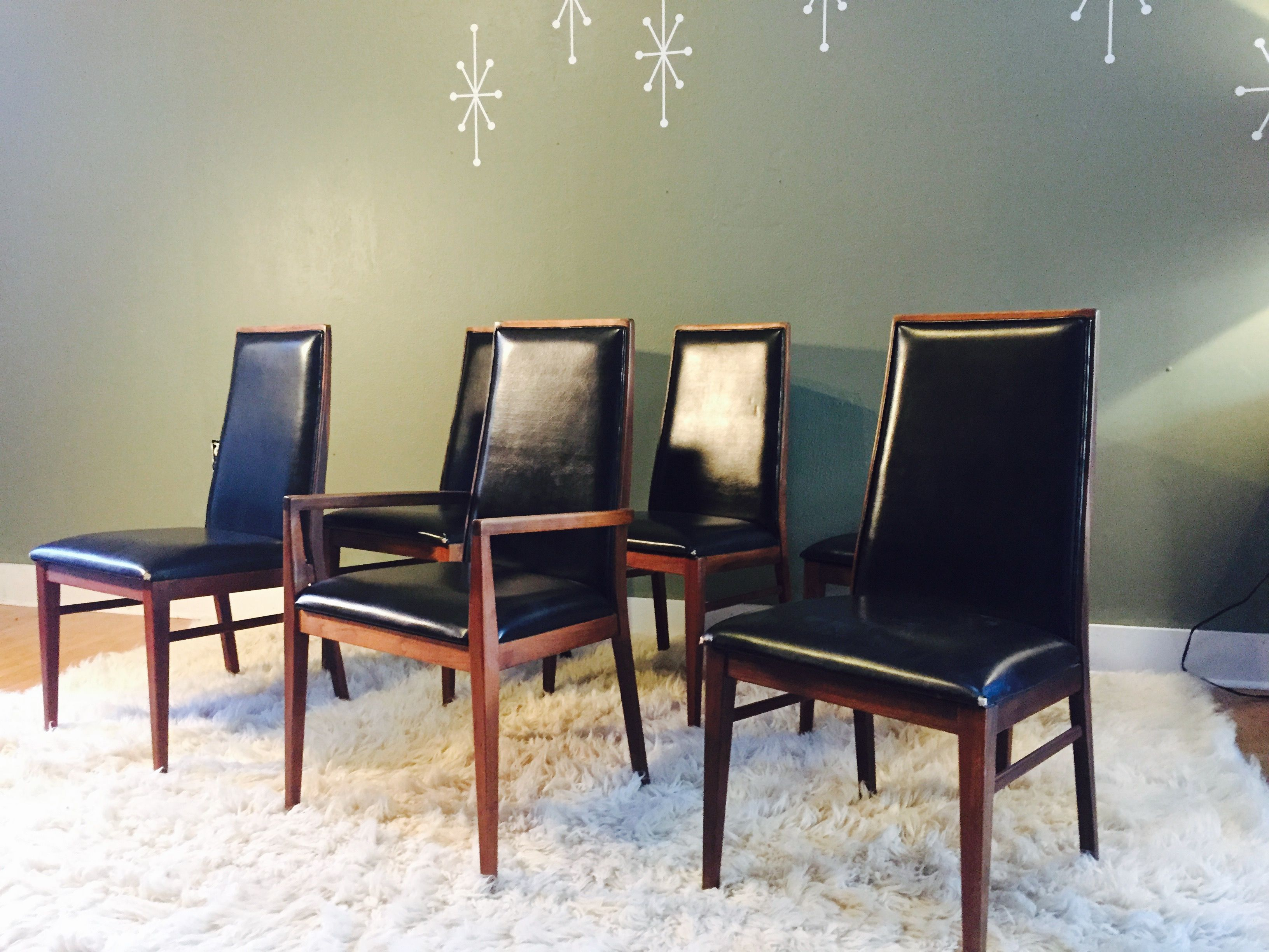 a62aac4992777 Milo Baughman for Dillingham walnut mid century modern dining chairs ...