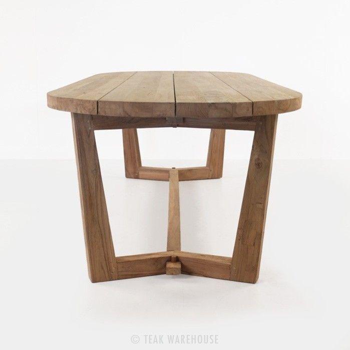 Danielle Reclaimed Teak Dining Table Oval 0 Hawaii Pinterest And