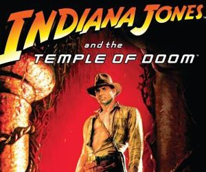 Temple of Doom-the best Indiana Jones film in my opinion.  Most will disagree but oh well.
