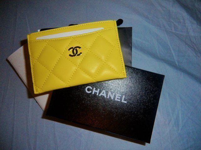 87c24de4b65a Yellow Chanel card holder in 2019 | ♥wishlist | Chanel card holder ...