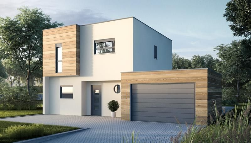 Plan de maison contemporaine constructeur m tre carr for Plan maison neuve contemporaine