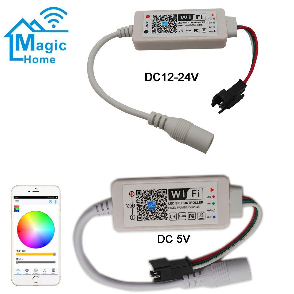 Lighting Accessories Dc5v Dc12 24v Magic Home Led Spi Controller Addressable 2048 Pixel Mini Wifi Controller For Ws2811 Sk68 In 2020 Wifi Led Lighting Home