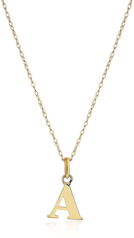 16+ Letter pendant necklace gold amazon trends