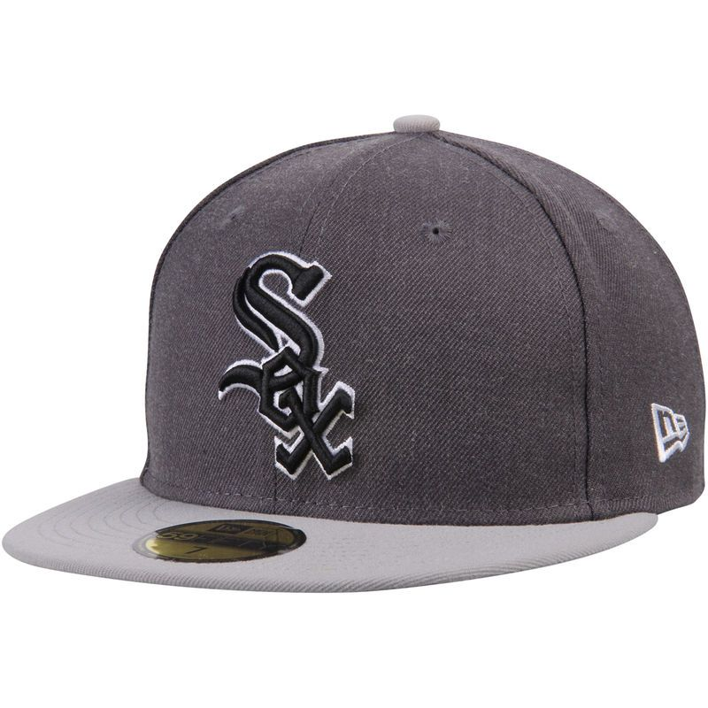 06724855260 Chicago White Sox New Era Shader Melt 2 59FIFTY Fitted Hat - Charcoal Gray