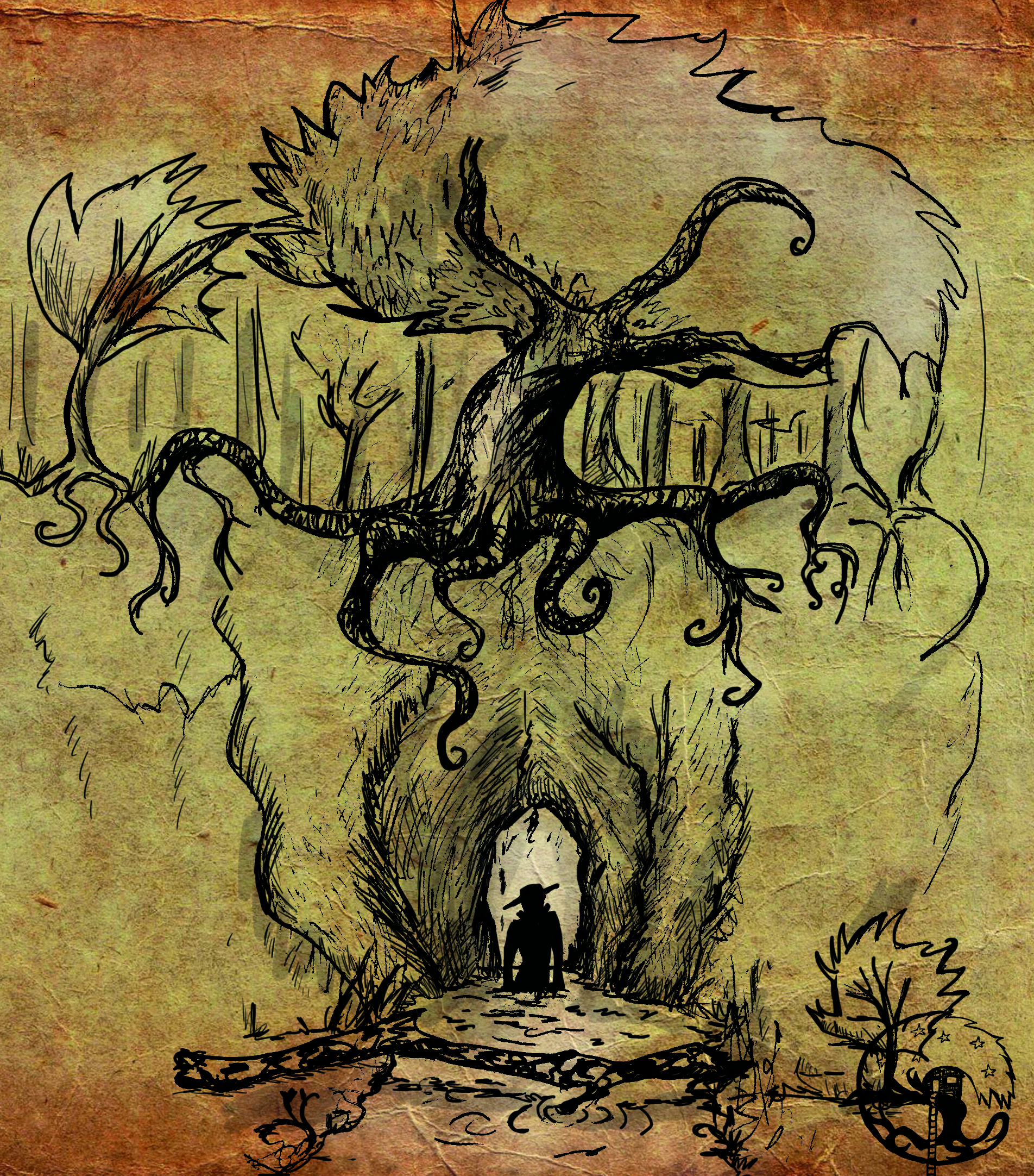 """Illustration aus """"im Schatten des Zweihorns"""""""