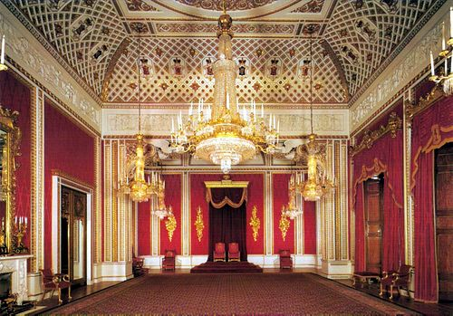 Buckingham Palace London The Official London Residence Of Her Majesty The Queen Buckingham Palace London Buckingham Palace Throne Room