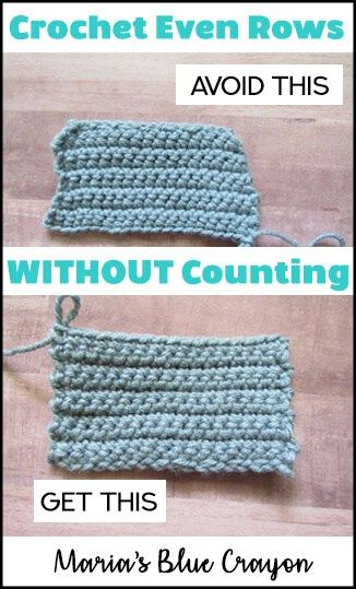 Photo of Crochet Tip: Get Even Rows Without Counting – Maria's Blue Crayon