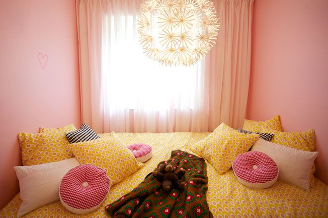 pink and yellow bedroom | Beautiful Yellow Bedrooms | Teal ...