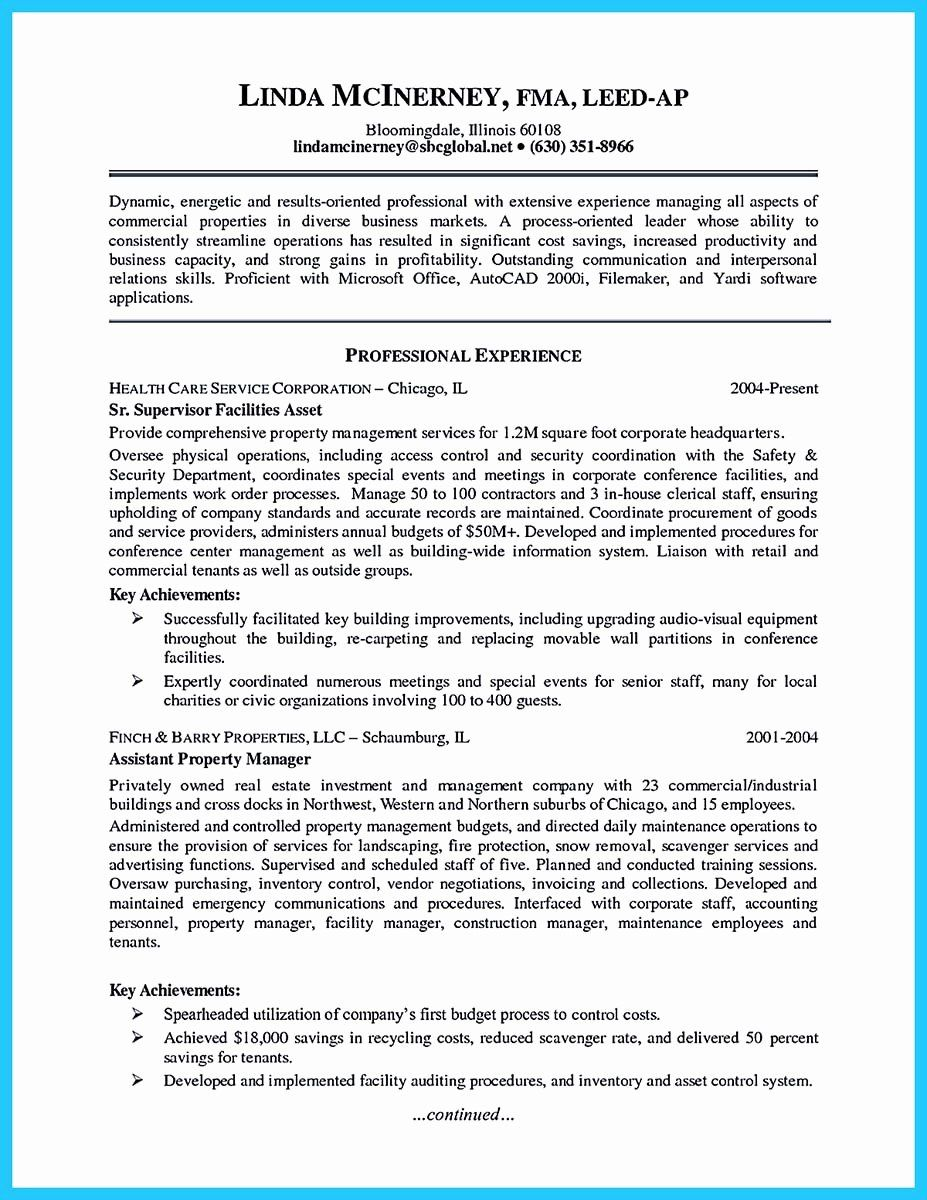 Assistant property manager resume lovely writing a great