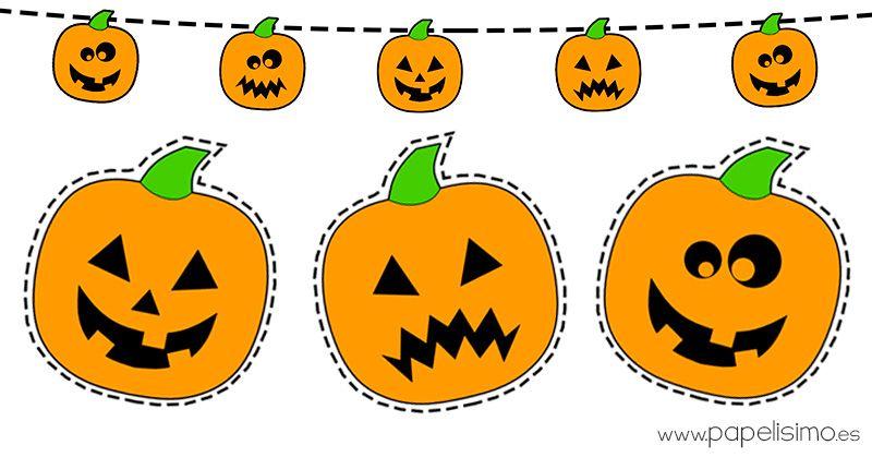 Dibujos De Calabazas Coloreadas Para Recortar Dibujo De Calabaza Calabazas De Halloween Fiestas Infantiles De Halloween