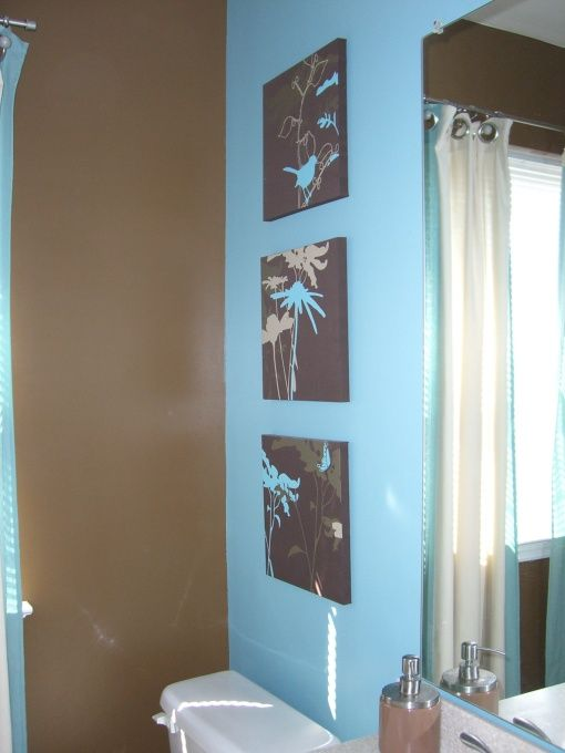Bathroom Color Schemes Brown And Teal.Chocolate And Aqua Bath Chocolate Brown And Aqua Bathroom