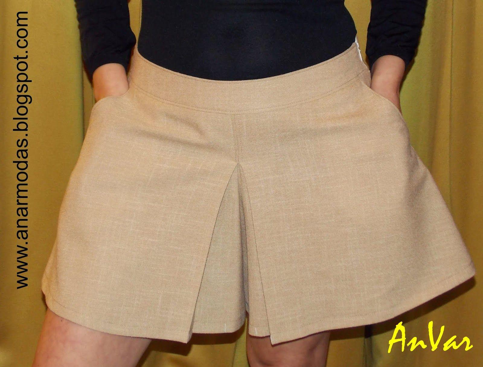 59ed075d1 AnVar - Te enseño a coser: TRAZO DE LA FALDA PANTALÓN | How to Sew ...