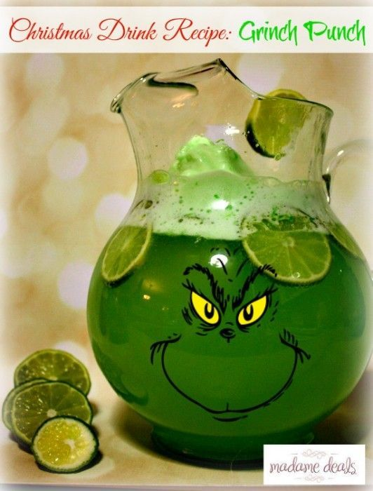 Christmas Drink Recipe: Grinch Punch | Punch, Drinks and Grinch