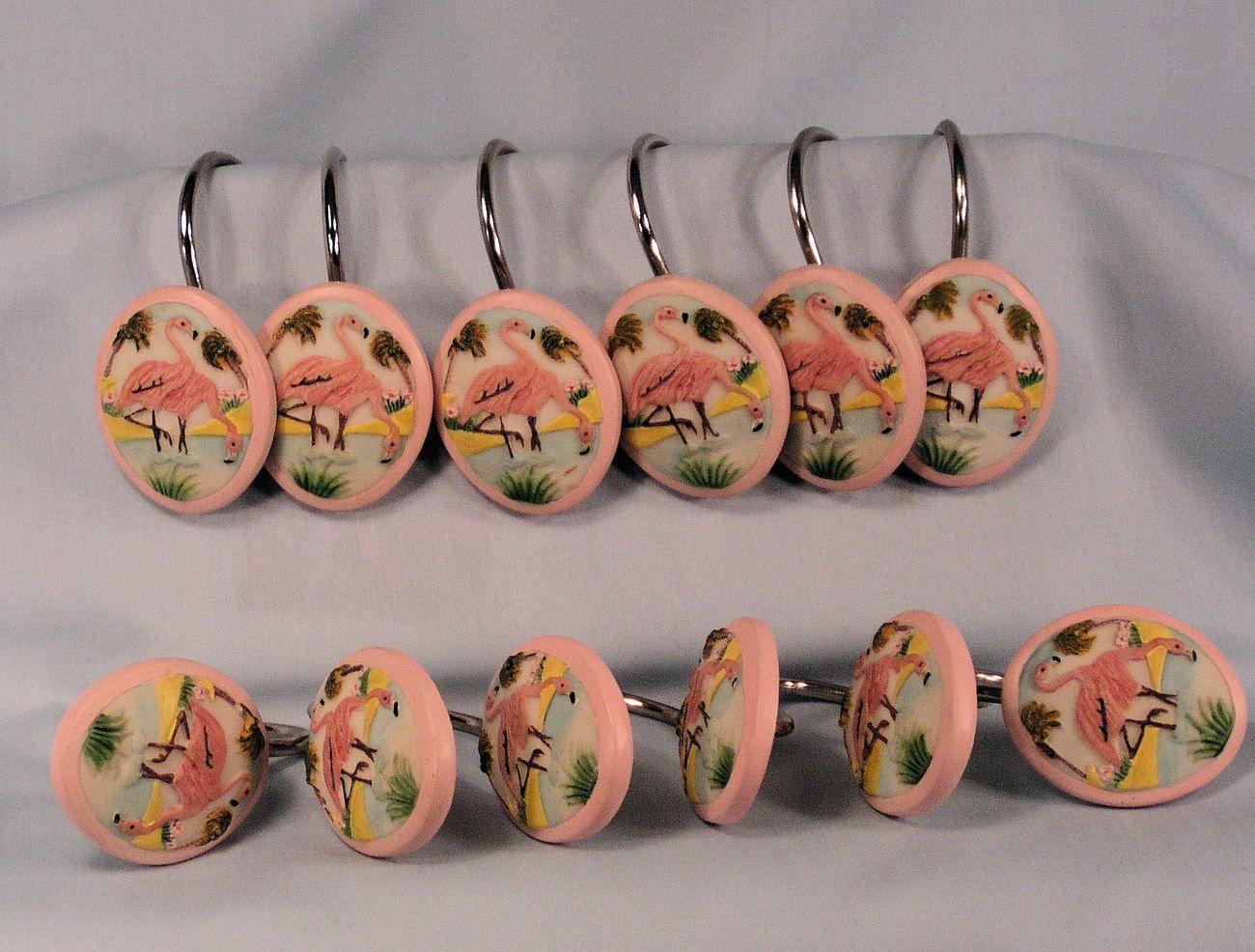 Bon Flamingo Shower Curtain Hooks