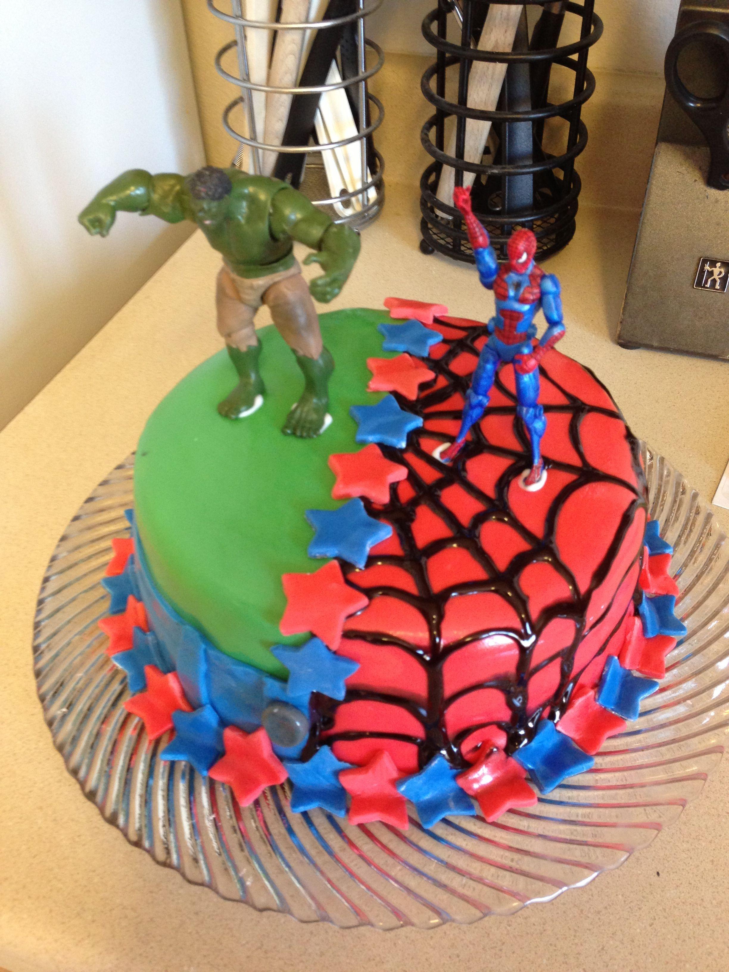Hulk SpiderMan Cake Husband NAILED it Nailed itor not Pins