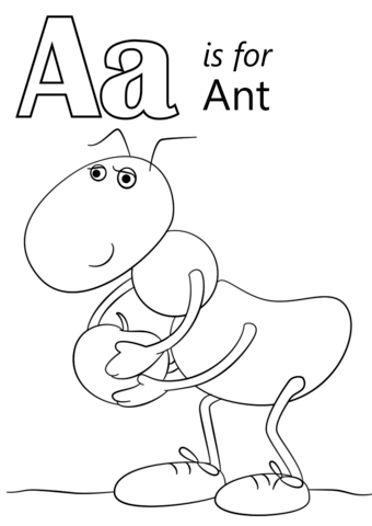 Letter A Is For Ant Coloring Page From Category Select 27643 Printable
