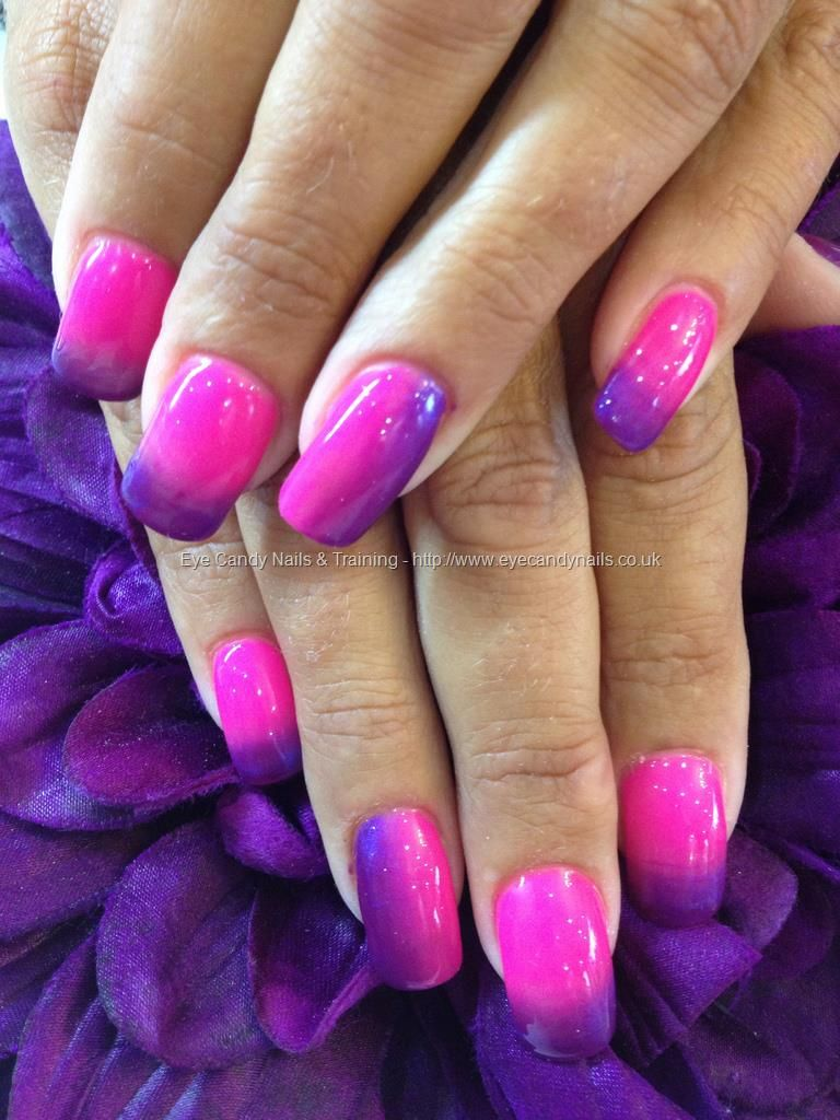 Pink And Purple Ombre Gel Fade In 2020 With Images Opi Gel Nails Purple And Pink Nails