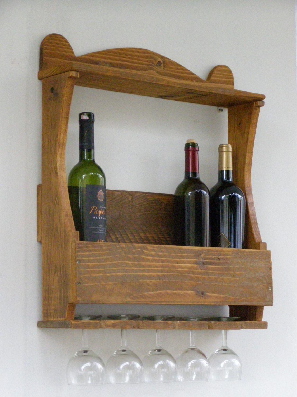 Estante Para Botellas Y Copas Con Palés Reclaimed Wood Wine Rack