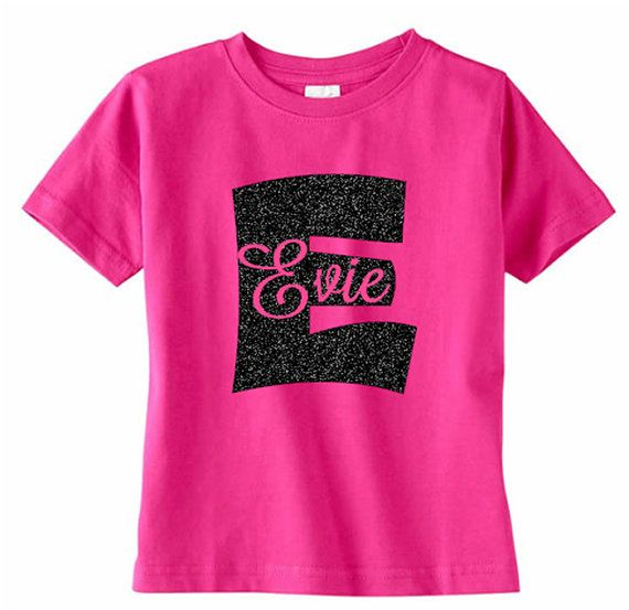 bf5939307ee92 Monogram Toddler TShirt Girls Initial with Name by VinylDezignz ...