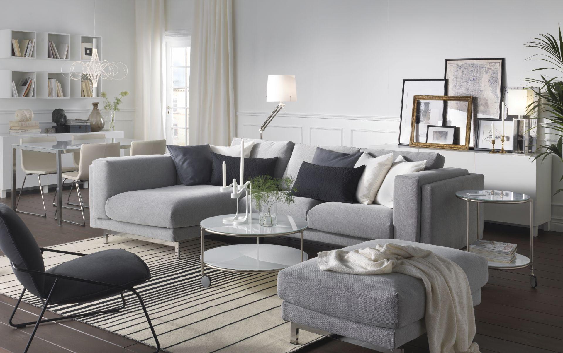 NOCKEBY bank | #IKEA #IKEAnl #woonkamer #grijs #chroom #inspiratie ...