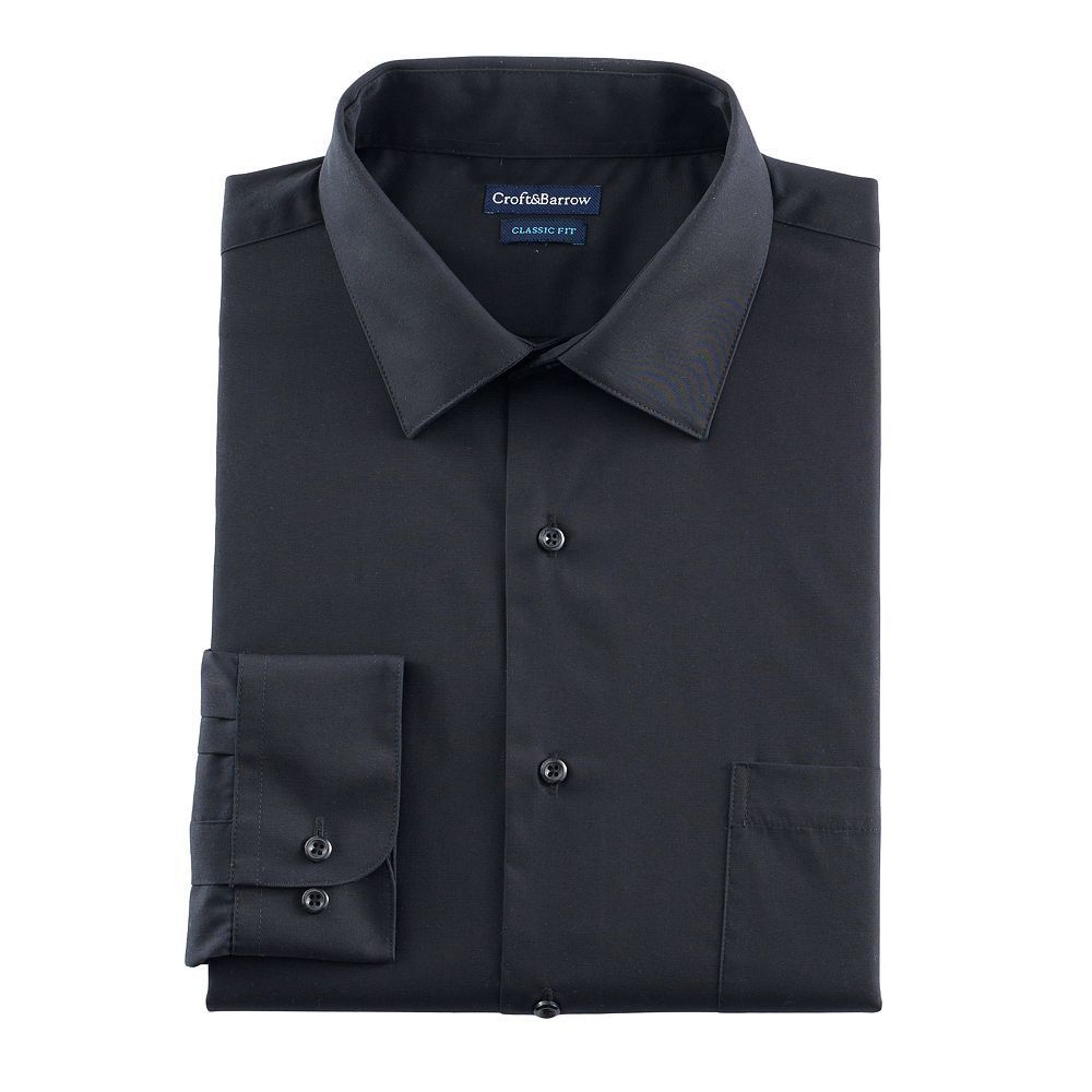 Men S Croft Barrow Fitted Stretch Collar Dress Shirt And
