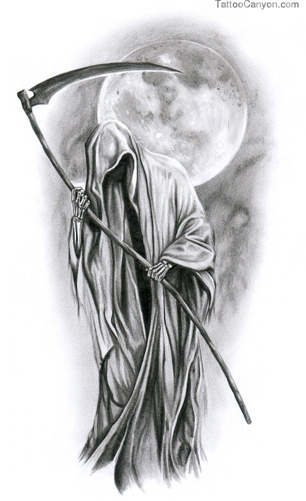 Death Under Moon Tatuaje De Muerte Tatuajes De Santa Muerte Craneo Dibujo
