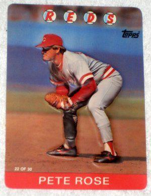 Topps 3d Baseball Stars Photo Card Pete Rose 22 Of 30 Cincinnati