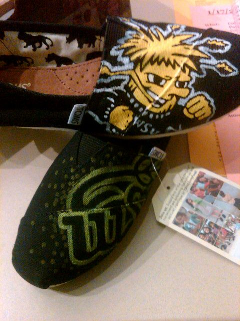Wichita State TOMS, I like the bottom ones the best!