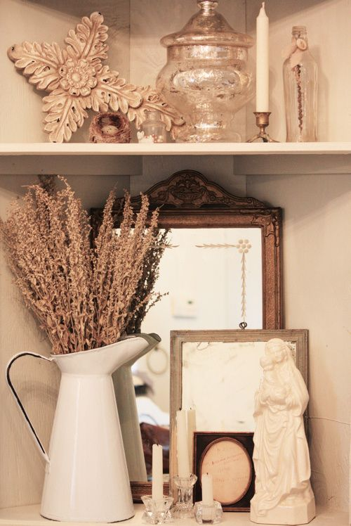Corner Shelf Vignette from Thoughts from Alice W.