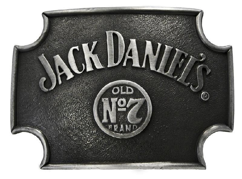 7 Belt Buckle Black Jack Daniels No