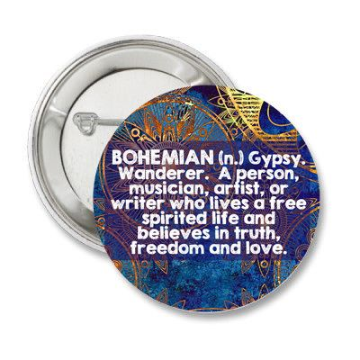 Bohemian Gypsy Wanderer Quote 1.25'' by bohemianapothecarium