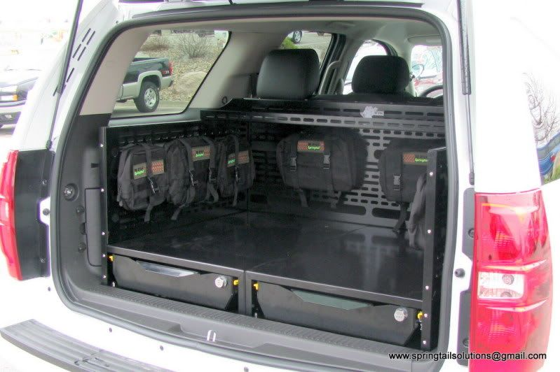 I Like The Idea Of Raised Floor For Storage Underneath Might Figure Something Out For The Jeep Suv Storage Bug Out Vehicle Tactical Truck