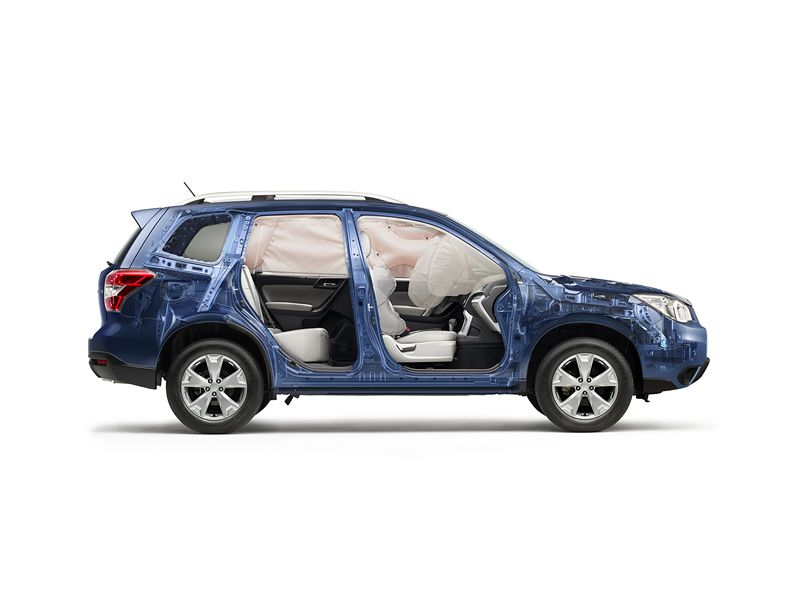 Forester Safety Every Forester Features A Total Of Seven Airbags Including Front Front Seat Side Pelvis Torso Side Curtai Subaru Forester Subaru Subaru Cars