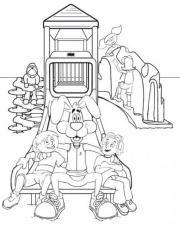 Slyde the Playground Hound teaches playground safety