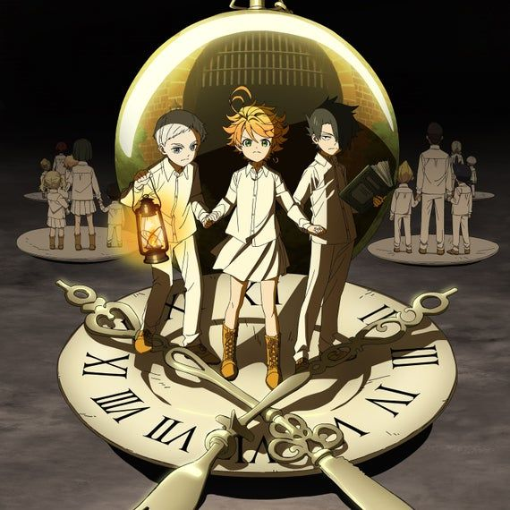 The Promised Neverland Anime Emma Norman Ray Digital Download Prints Wall Posters Wallpapers