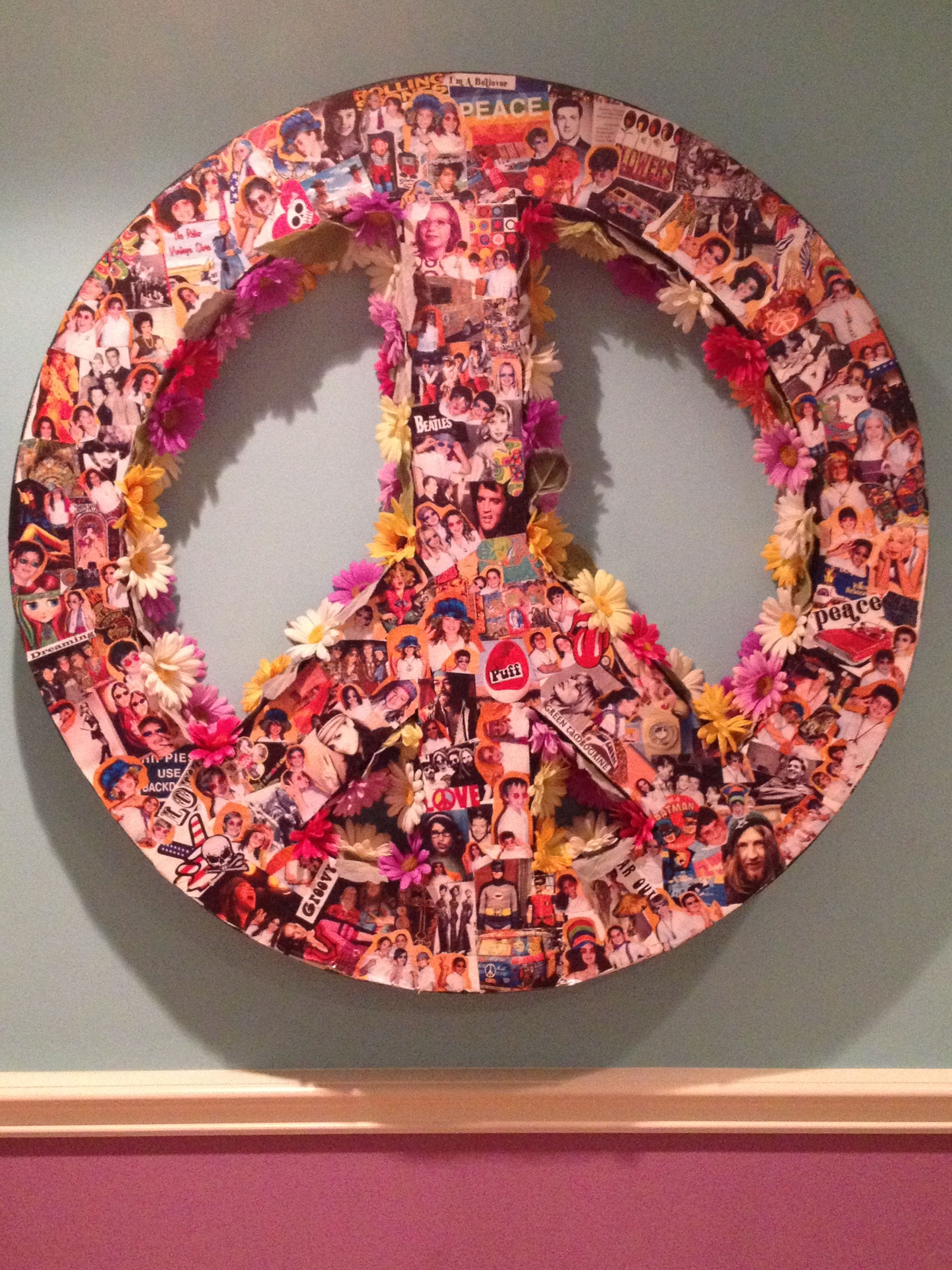 Peace Sign For Your Bedroom! This was so easy to make! I ...