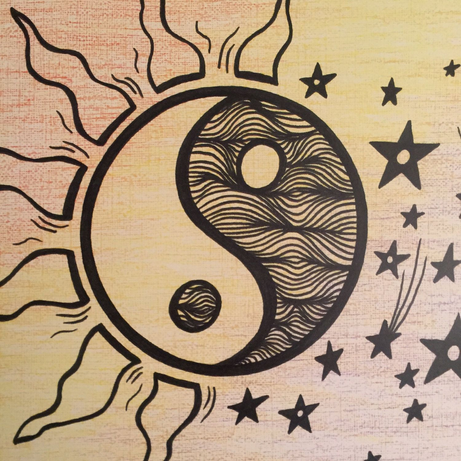 Day Night Ying Yang Prints Multicolored Colored Pencil Paint Ying Yang Art Ying Yang Ying Yang Tattoo