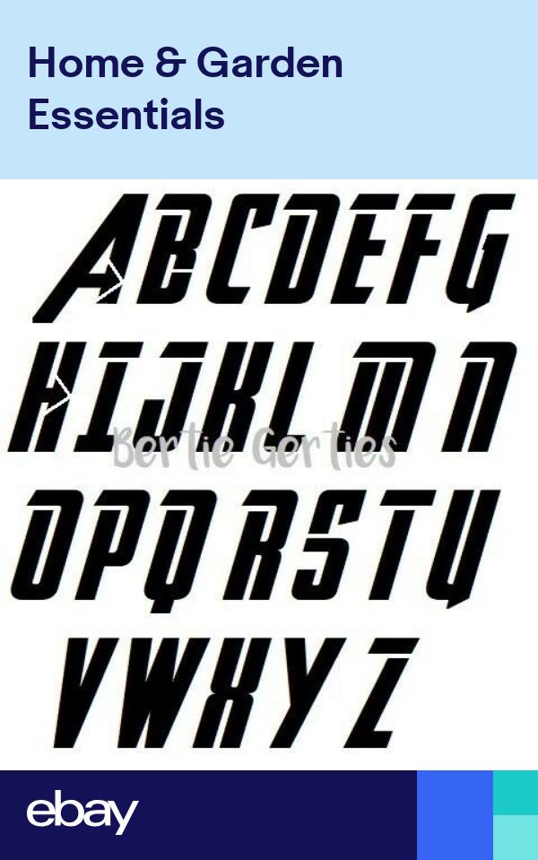 Avengers Style Alphabet Letter Stencil Reusable Mylar