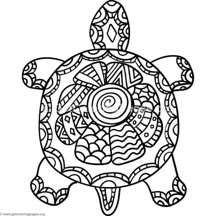 Free Download Turtle Zentangle Coloring Pages #coloring # ...