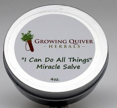 I Can Do All Things Miracle Salve - for bug bites, stings, cuts, bruises, burns, eczema, and all skin ailements