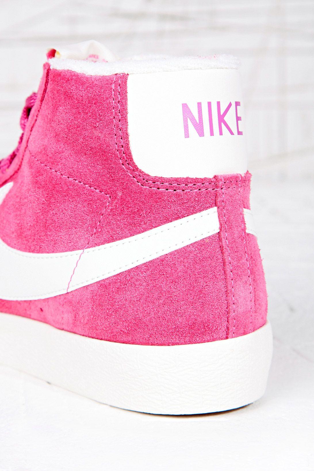 ded765196fe Shoeniverse  NIKE Blazer Hi-Top Trainers In Pink