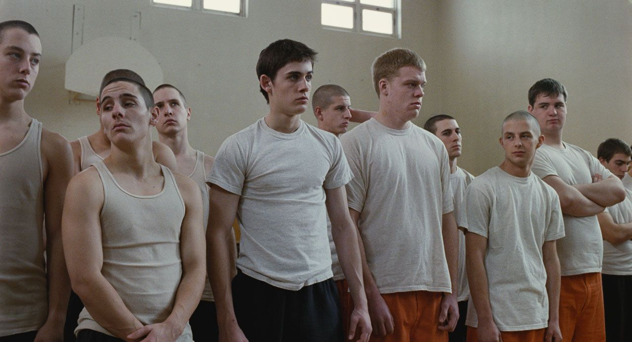 Dog Pound (La fourrière)  At a spirit-crushing juvenile correctional facility, teenage offenders Butch, Davis and Angel desperately struggle to steer clear of trouble while simultaneously confronting violent challenges from aggressive inmates and abusive adults.  http://www.imdb.com/title/tt1422020/