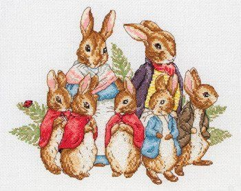 Peter Rabbit Family (Beatrix Potter) - Cross Stitch Kit by Anchor, http://www.amazon.com/gp/product/B006AFOLB8?ie=UTF8=homeofartandcraftssuppliesbysusanoliver-20=shr=213733=393177=B006AFOLB8&=arts-crafts=1357949009=1-39=stitch+beatrix+potter via @Amazon.com.com