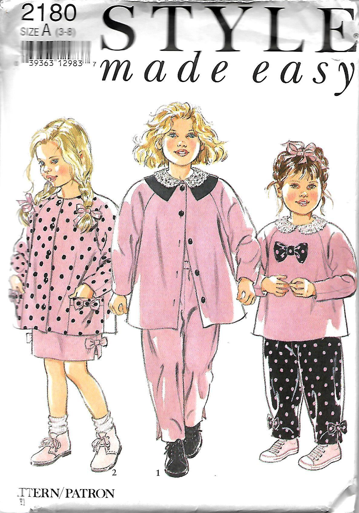 a3e14fb15 Style 2180 Children s Coordinates Sewing Pattern