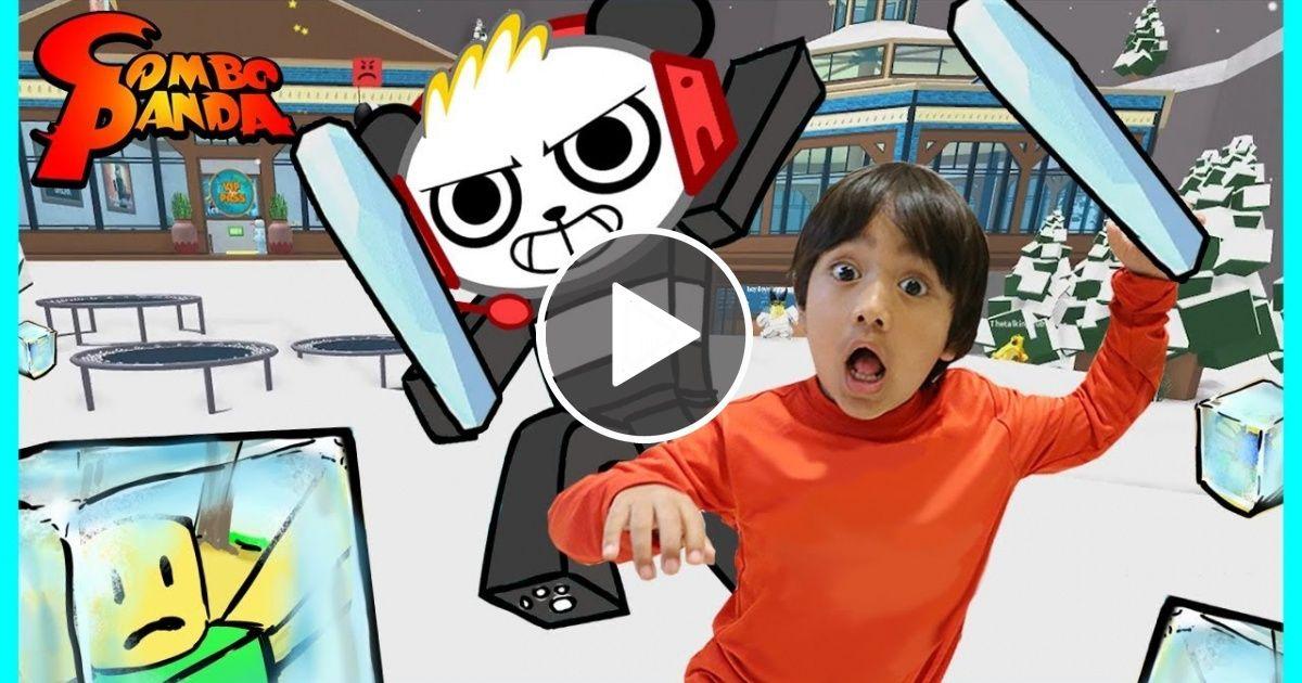Ryan ToysReview VS  Combo Panda on Roblox! Ice Breaker Epic