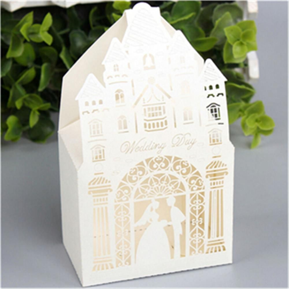 1pc Casamento Wedding Chapel Wedding Favor Boxes Wedding Candy Box ...