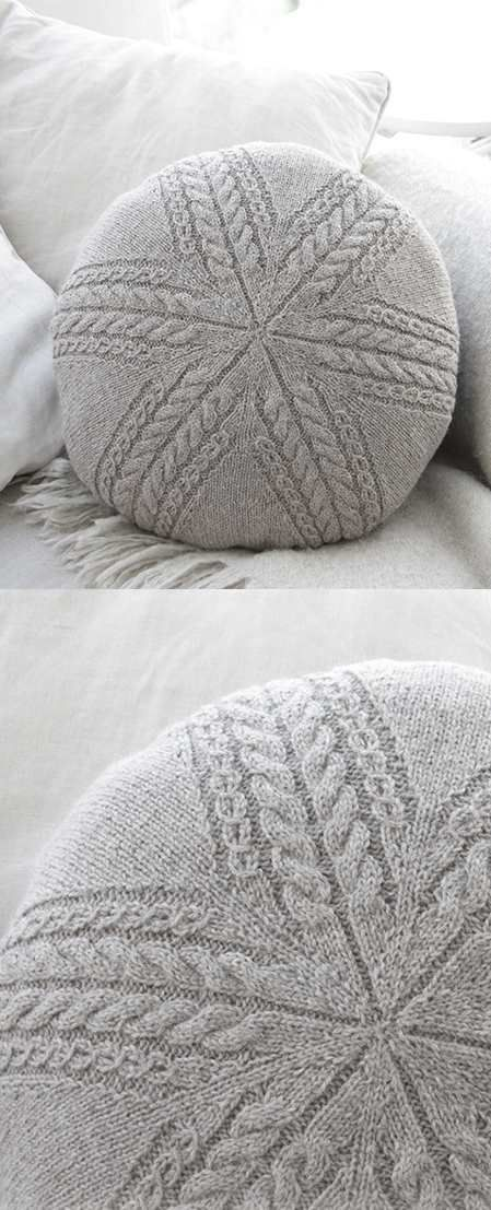 Sand Tracks Pillow Free Cable Knitting Pattern Knit Patterns