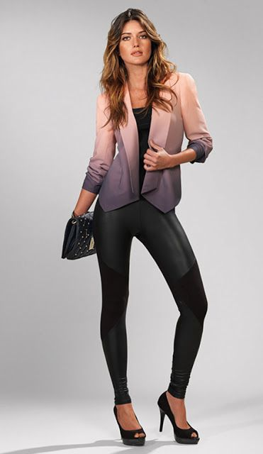 #Kardashian Collection pinky hued ombre blazer