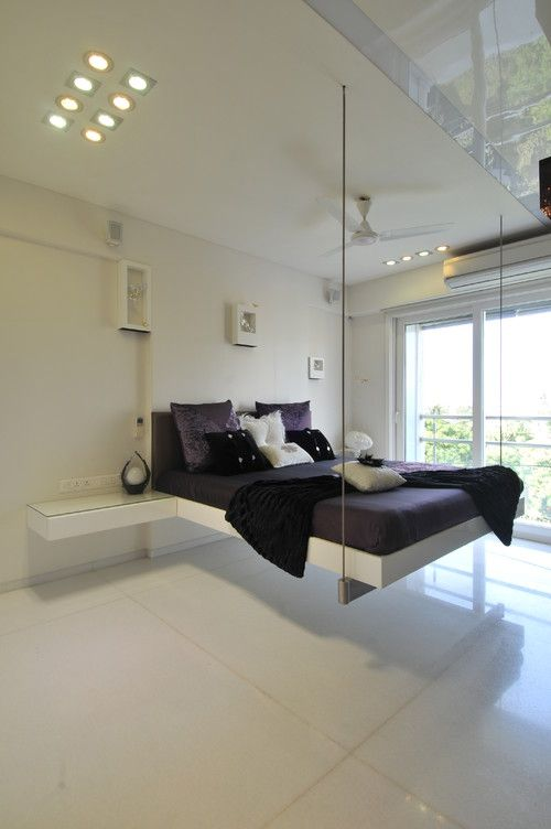 15 Floating Swing Bed Ideas To Make Your Bedroom More Excited Stirring 15 Jpg 500 752 Pixels Modern Bedroom Modern Bedroom Furniture Creative Bedroom