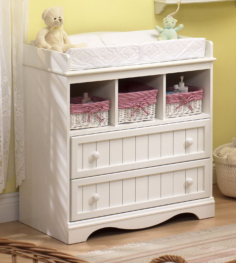 Baby Changing Table Nursery Furniture Storage Cabinet Diaper